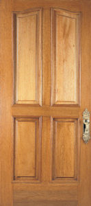 Raised wood panel door
